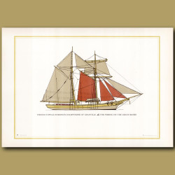 French Topsail schooner Champenoise of Granville