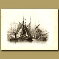 Oyster Boats At Billingsgate