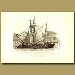 Schooner And Smack (Coasting Traders) Lying At Fresh Wharf, London Bridge