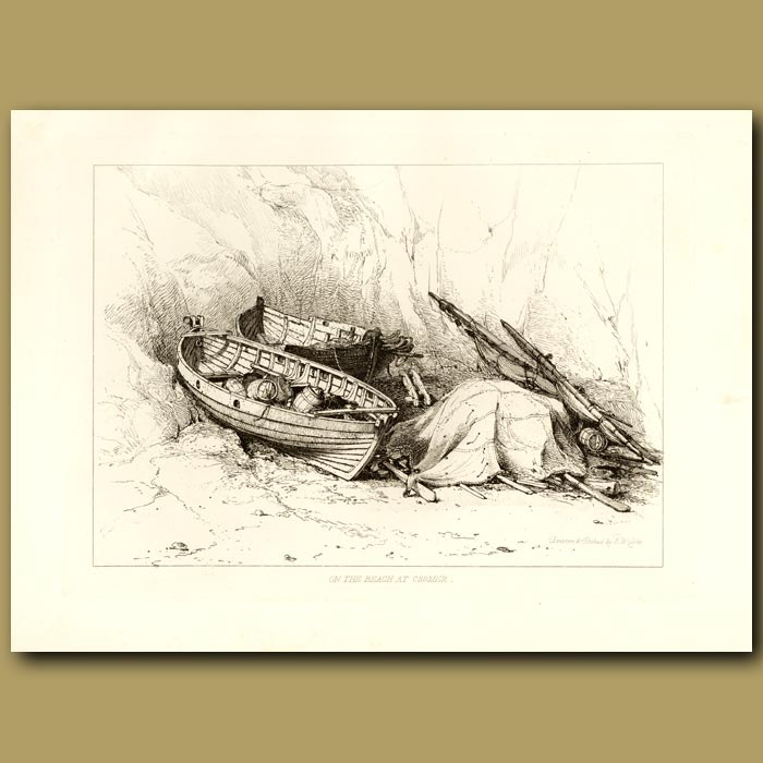 Antique print. On The Beach At Cromer