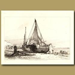 Brighton Fishing Boats On The Beach
