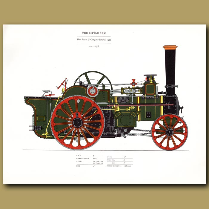 Antique print. Steam Engine The Little Gem 1933