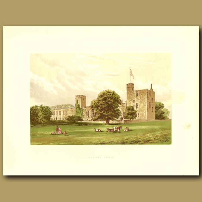 Antique print. Sudeley Castle: The Dent Family