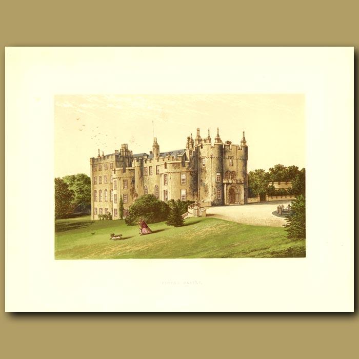 Antique print. Picton Castle: The Phillipp Family