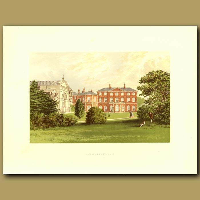 Antique print. Everingham Park: Lord Herries