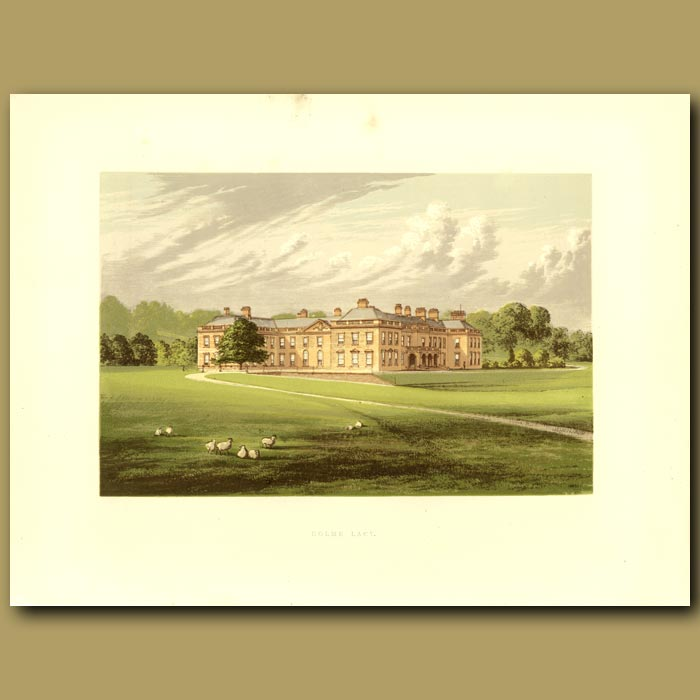 Antique print. Holme Lacy: Baronet Stanhope