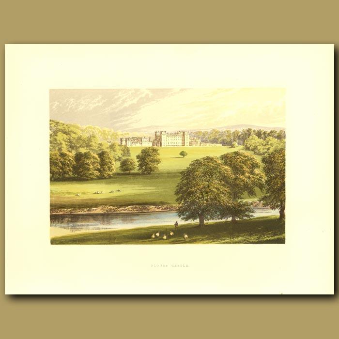 Antique print. Floors Castle: Duke Of Roxeburgh
