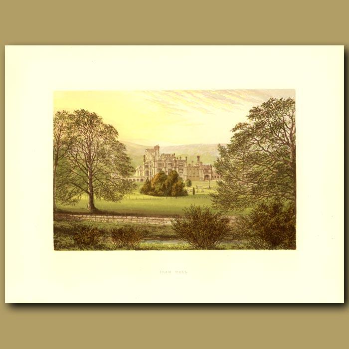 Antique print. Ilam Hall: The Hanbury Family