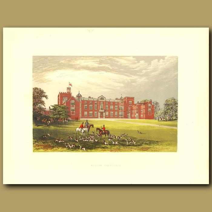 Antique print. Burton Constable: Baronet Constable