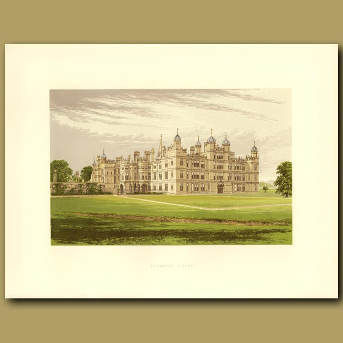 Antique print. Burghley House: Marquis Of Exeter
