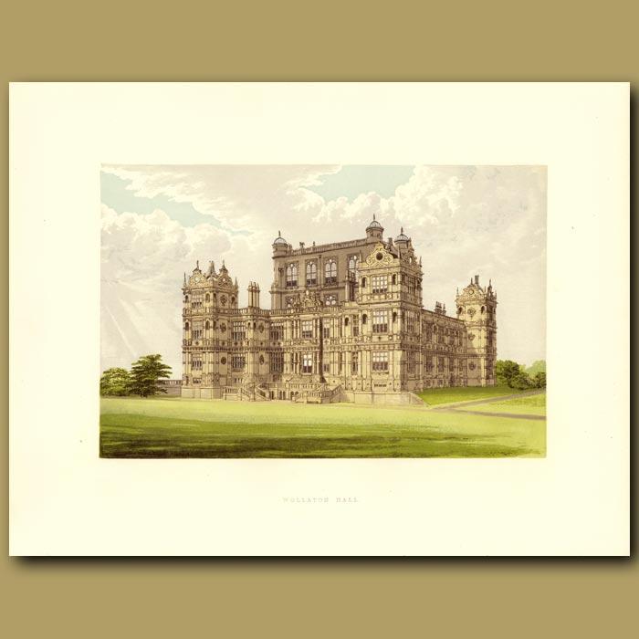 Antique print. Wollaton Hall: Lord Middleton