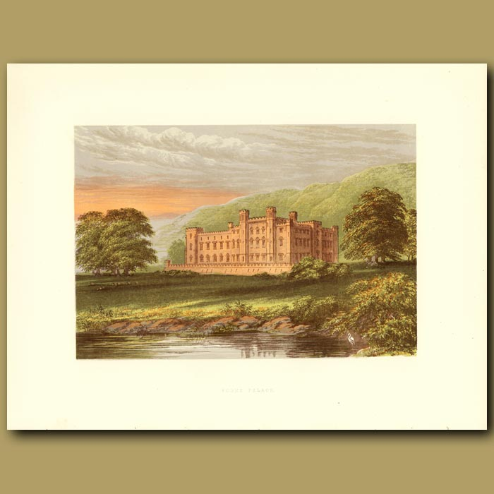 Antique print. Scone Palace: Earl Of Mansfield