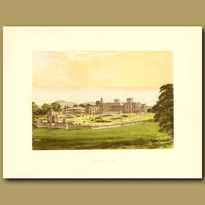 Antique print. Whitley Court: Earl Of Dudley