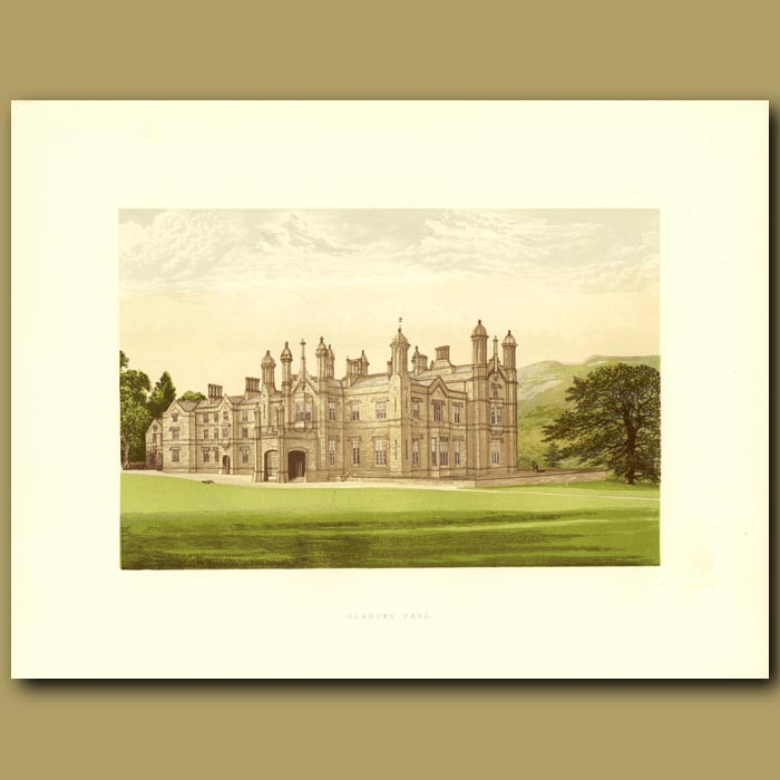 Antique print. Glanusk Park: Baronet Bailey