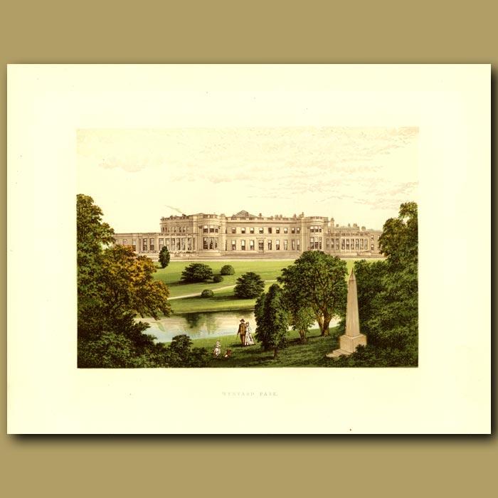 Antique print. Wynyard Park: Marquis Of Londonderry