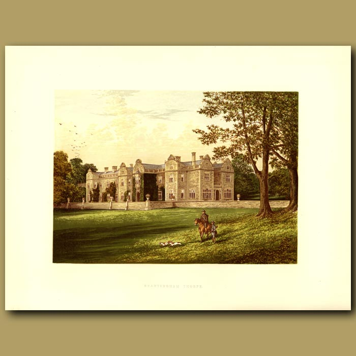 Antique print. Brantingham Thorpe: Sykes