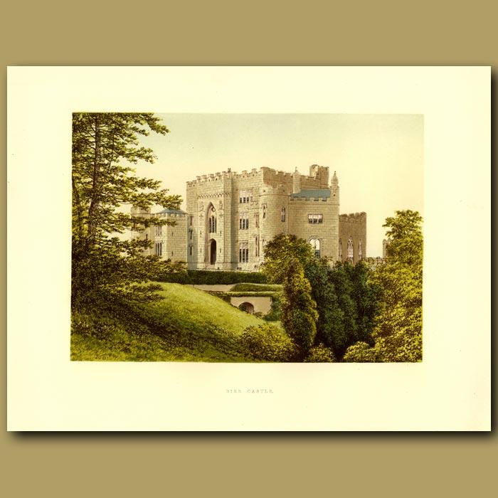 Antique print. Birr Castle: Earl Of Rosse