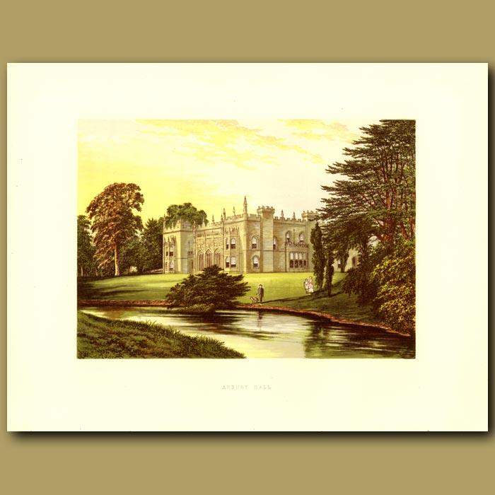 Antique print. Arbury Hall: Newdegate