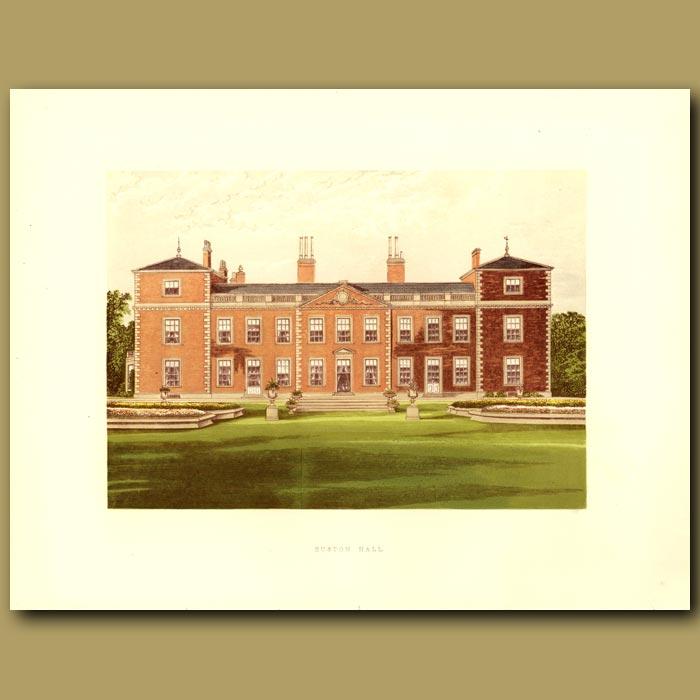 Antique print. Euston Hall: Duke Of Grafton