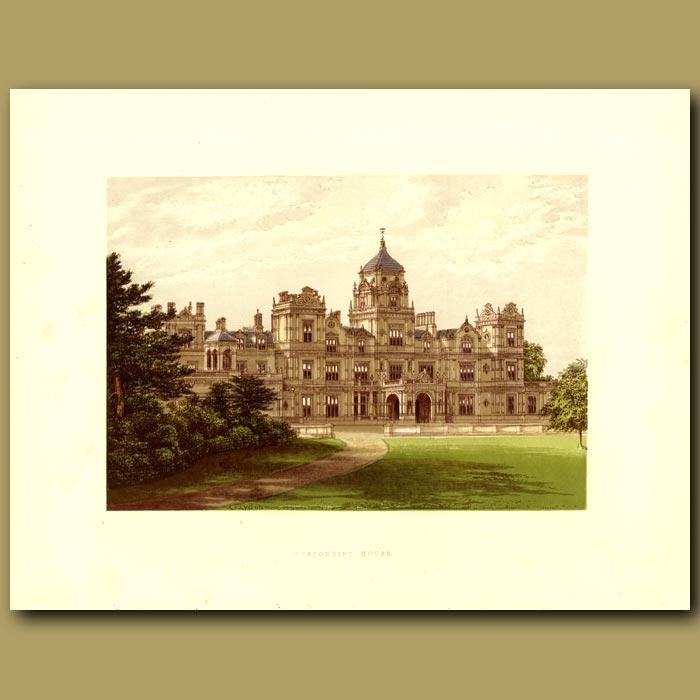 Antique print. Westonbirt House: Holford