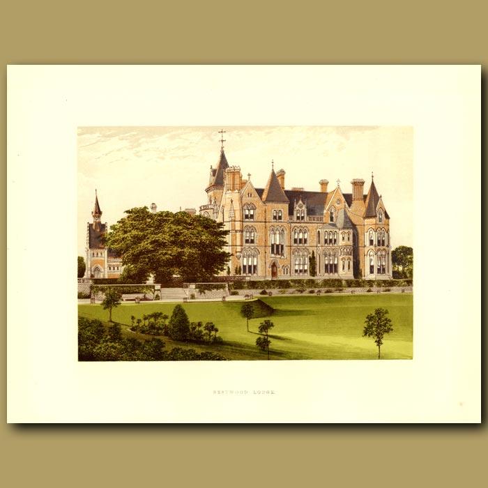Antique print. Bestwood Lodge: Duke Of St. Albans