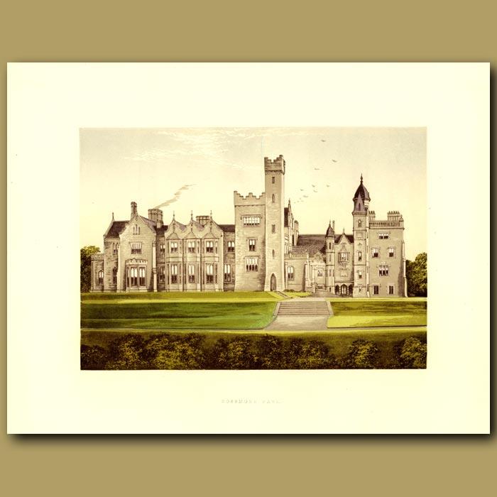 Antique print. Rossmore Park: Lord Rossmore