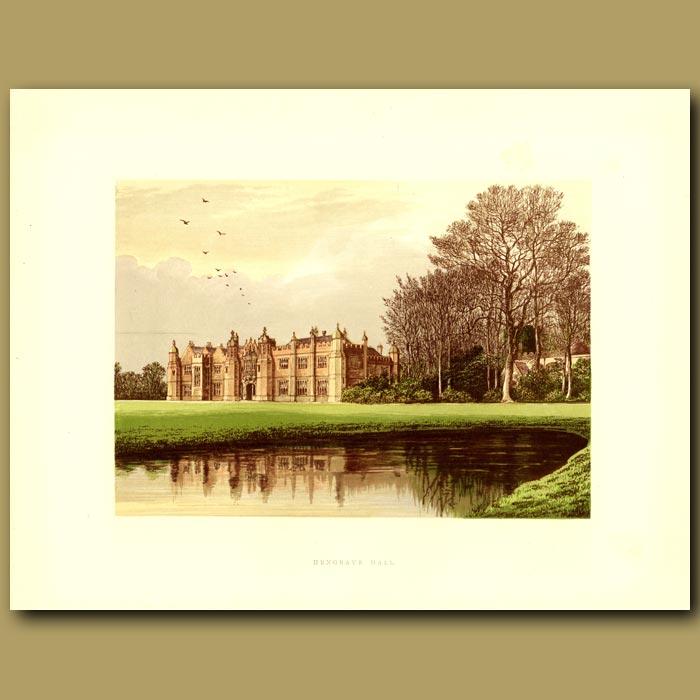 Antique print. Hengrave Hall: Gage