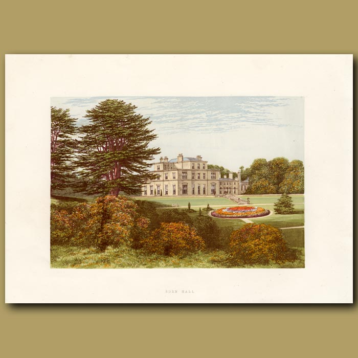 Antique print. Eden Hall