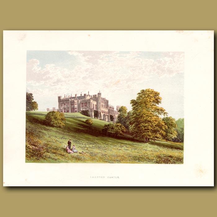 Antique print. Lambton Castle