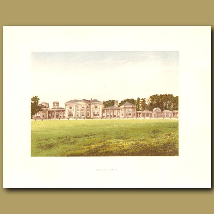 Antique print. Heaton Park: Earl of Wilton