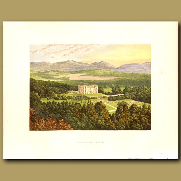 Antique print. Drumlanrig Castle: Duke of Buccleuch