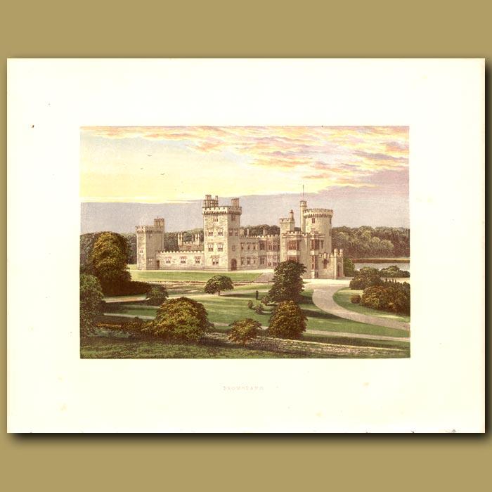 Antique print. Dromoland Castle: Lord Inchiquin