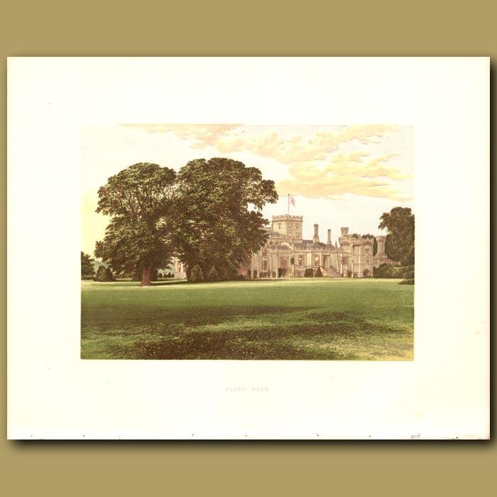 Antique print. Elton Hall: Earl of Carysfort