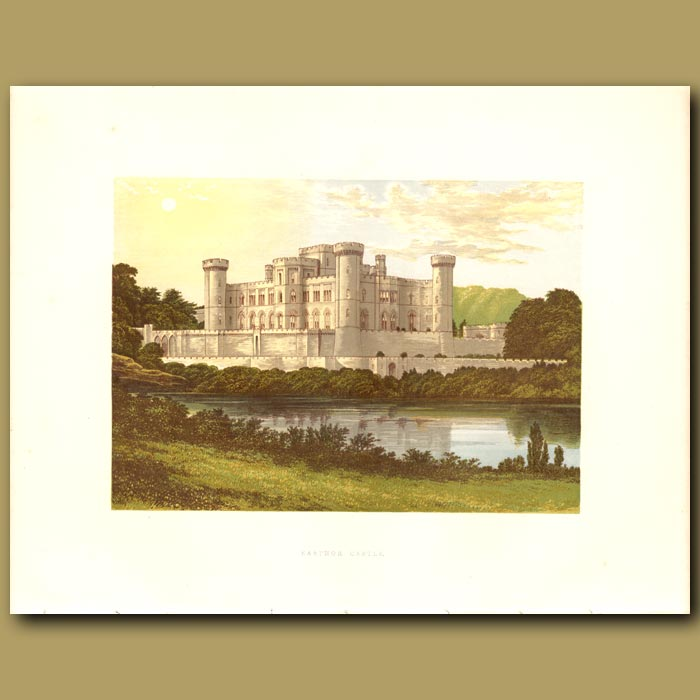 Antique print. Eastnor Castle: Earl Somers