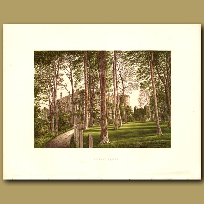 Antique print. Appleby Castle: Baronet Tufton