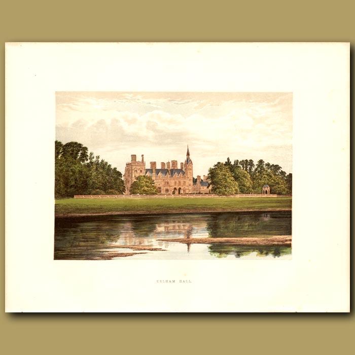 Antique print. Kelham Hall: Manners-Sutton Family