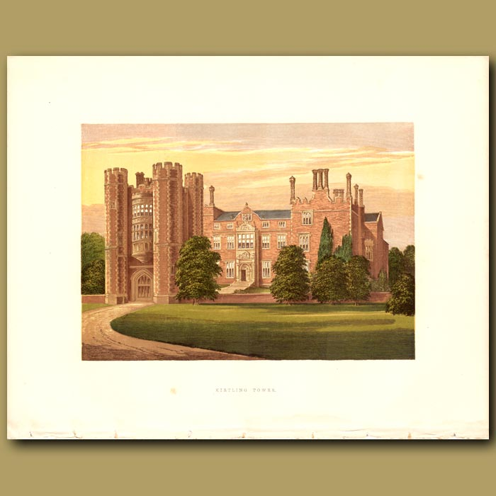 Antique print. Kirtling Tower: Baroness North