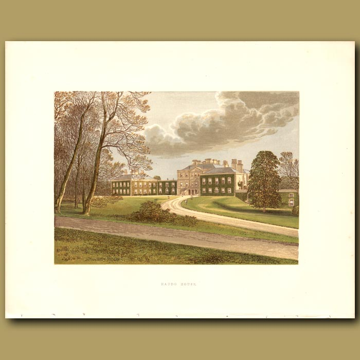 Antique print. Haddo House: Earl of Aberdeen