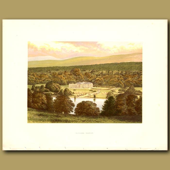 Antique print. Barons Court: Duke of Abercorn