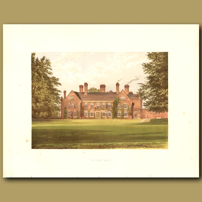 Antique print. Nether Hall: Greene Family