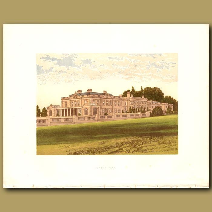 Antique print. Gunton Park: Lord Suffield
