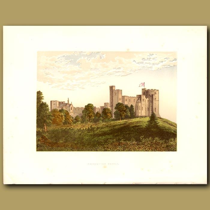 Antique print. Peckforton Castle: Baron Tollemache
