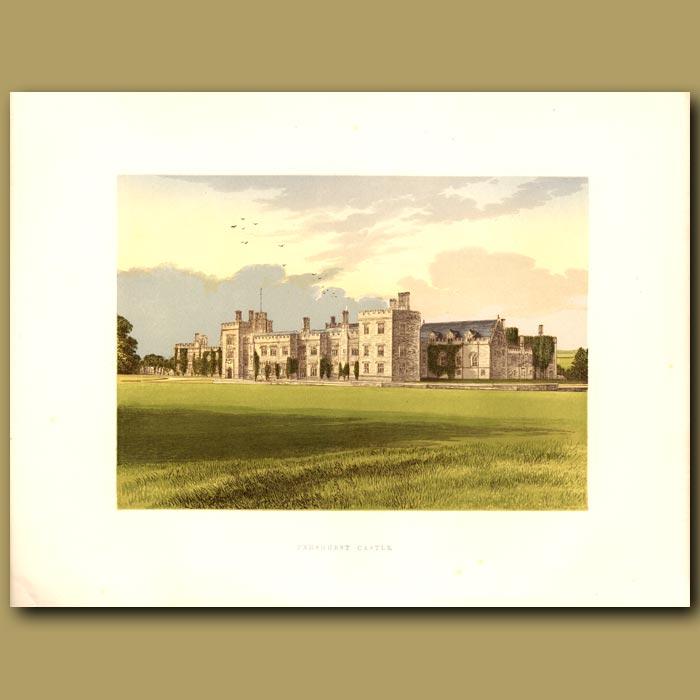 Antique print. Penshurst Castle: Lord De L'Isle and Dudley