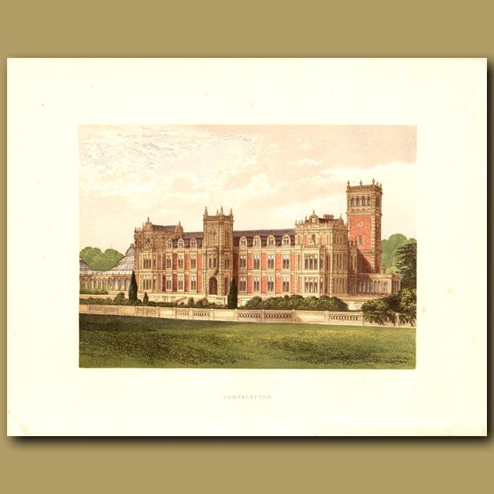 Antique print. Somerleyton: Baronet Crossley
