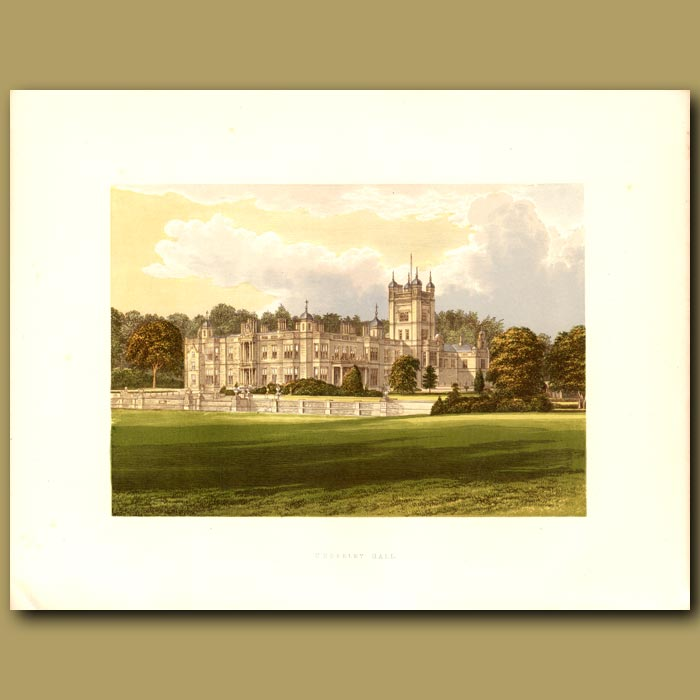 Antique print. Underley Hall: Earl of Bective