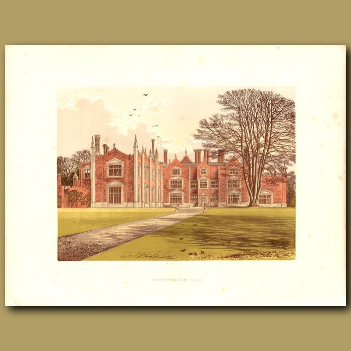 Antique print. Witchingham Hall: Viscount Canterbury