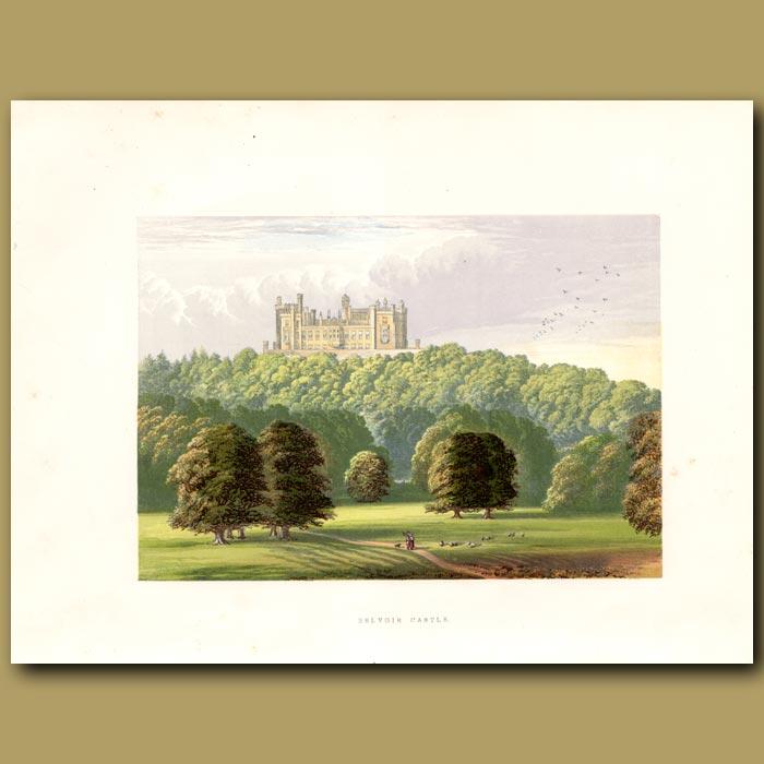 Antique print. Belvoir Castle
