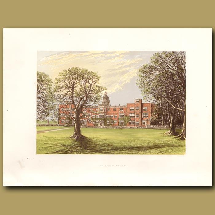 Antique print. Hatfield House