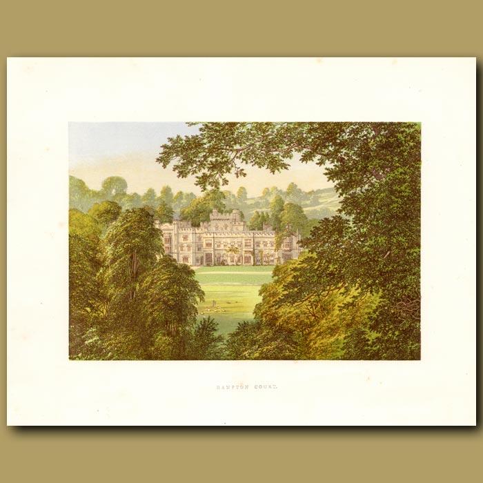 Antique print. Hampton Court