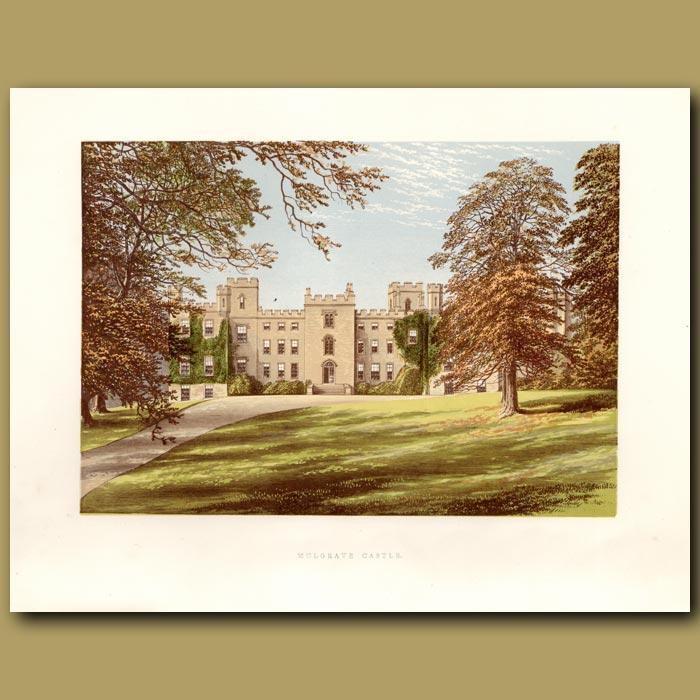 Antique print. Mulgrave Castle